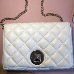 Authentic Kate Spade white quilted shoulder bag